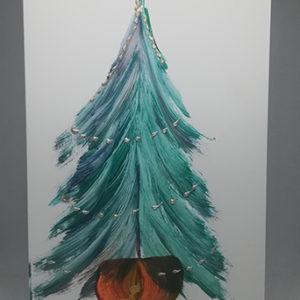 Пеинт карта новогодишња